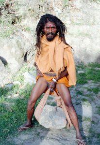 sadhu penis hanging penis stretching