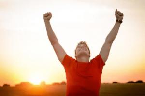Happy Man Sunrise (Shutterstock)